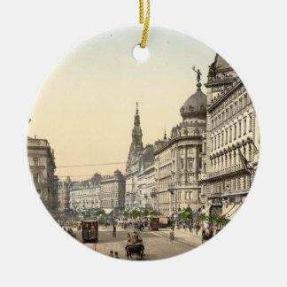 Rue d'anneau, Budapest, Hongrie Ornement Rond En Céramique