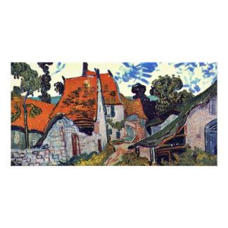 Rue dans Auvers par Vincent van Gogh Photocarte Customisée