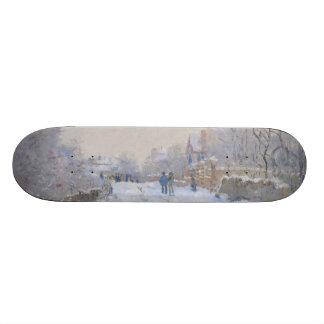 Rue dans la neige Argenteuil par Claude Monet Plateau De Skateboard