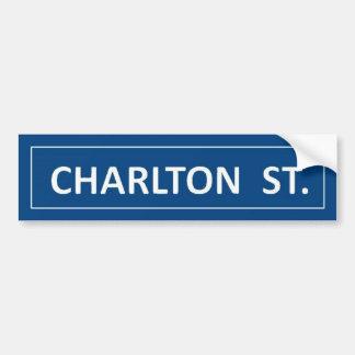 Rue de Charlton Autocollant Pour Voiture