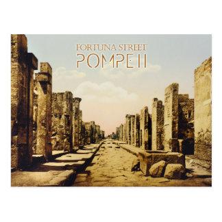 Rue de Fortuna, Pompeii, Italie Carte Postale