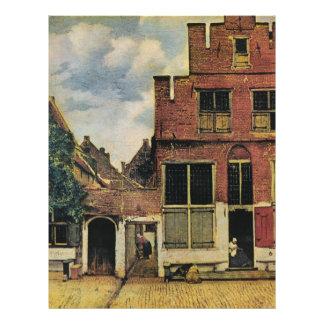 Rue de Johannes Vermeer à Delft (circa 1660) Prospectus 21,6 Cm X 24,94 Cm