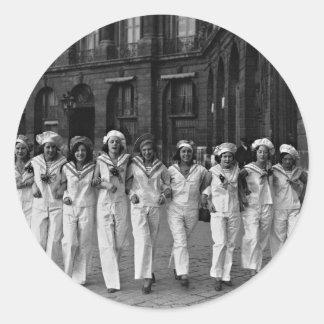 Rue de la Paix Paris France 1932 de Catherinettes Sticker Rond