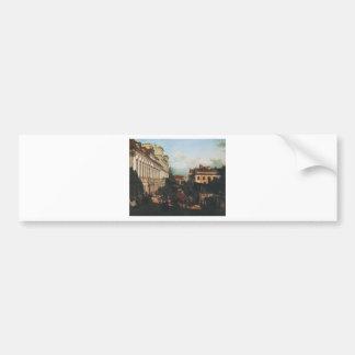 Rue de Miodowa par Bernardo Bellotto Autocollant De Voiture