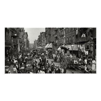 Rue de mûre à New York City, CA 1900 Photocartes Personnalisées