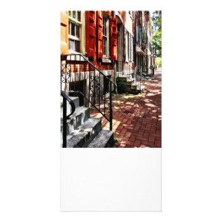 Rue de PA de Philadelphie avec les volets oranges Photocartes