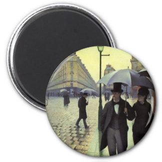 Rue de Paris jour pluvieux par Gustave Aimants