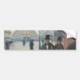 Rue De Paris Temps de Pluie par Gustave Autocollant De Voiture