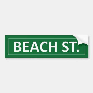 Rue de plage autocollant pour voiture