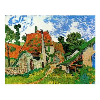 Rue de village dans Auvers par Vincent van Gogh Carte Postale