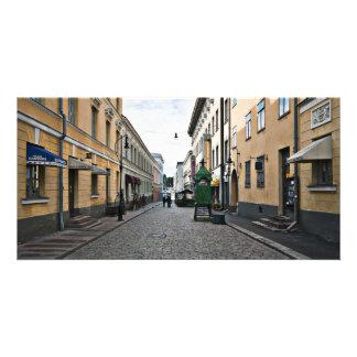 Rue de ville de Helsinki Photocarte