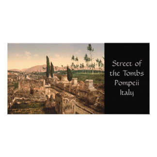 Rue des tombes, Pompeii, Campanie, Italie Cartes Avec Photo