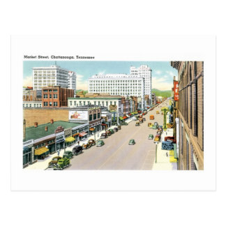 Rue du marché, Chattanooga, Tennessee (2) Cartes Postales