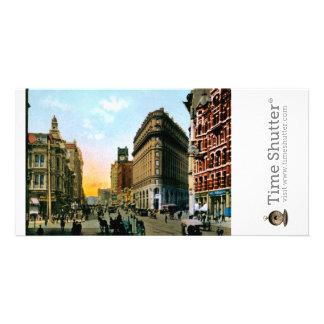 Rue du marché regardant occidental du courrier et photocartes