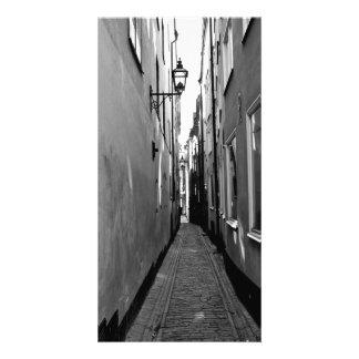 Rue étroite à Stockholm Photocarte Customisée