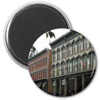 Rue historique magnet rond 8 cm