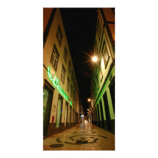 Rue la nuit modèle pour photocarte