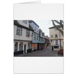 Rue pavée en cailloutis carte de vœux