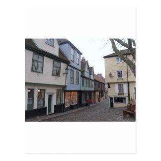 Rue pavée en cailloutis cartes postales
