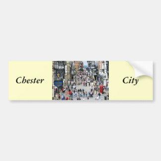 Rue principale de Chester Autocollant De Voiture