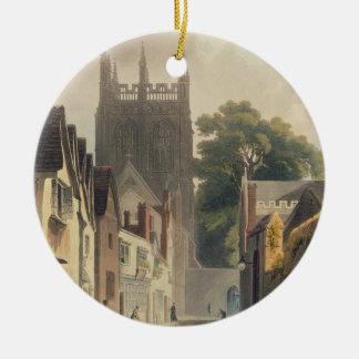 Ruelle de pie, Oxford, illustration du 'Histor Ornement Rond En Céramique
