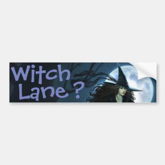 Ruelle de sorcière ? autocollant pour voiture