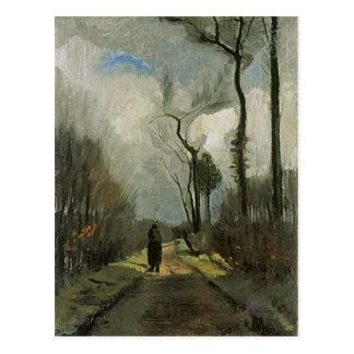 Ruelle en automne, beaux-arts de Vincent van Gogh Carte Postale