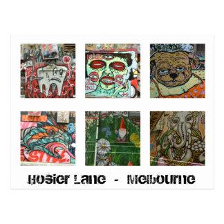 Ruelle urbaine de bonnetier de carte postale d'art