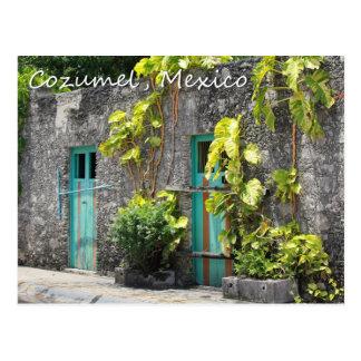Rues de carte postale de Cozumel