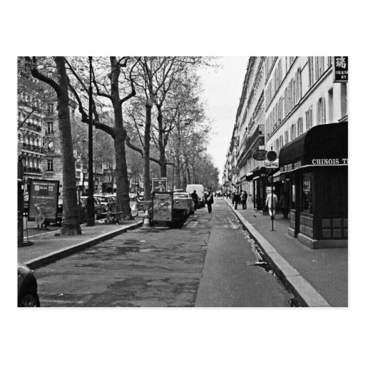Rues de Paris Carte Postale