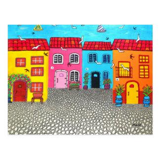 Rues de pavé rond de la Sardaigne Carte Postale