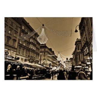 Rues de Vienne à la carte de vacances de Noël