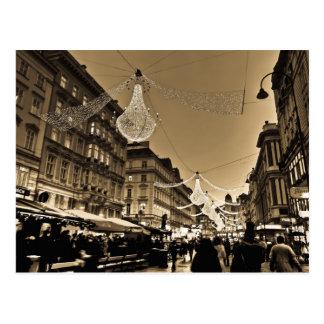 Rues de Vienne à la carte de vacances de Noël Carte Postale