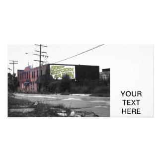 Rues détruites de Detroit en centre ville Carte Avec Photo