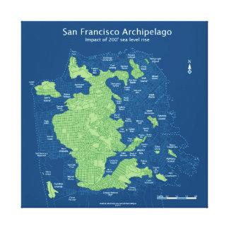 """Rues submergées de San Francisco-24 """" x24"""", toile Toiles"""