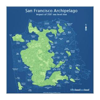 Rues submergées de SF, 200' hausse de niveau de la Toiles