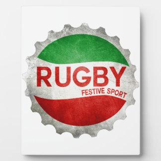 rugby basque festive sport plaque photo