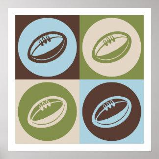 Rugby d'art de bruit posters
