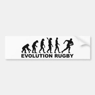 Rugby d'évolution autocollant pour voiture