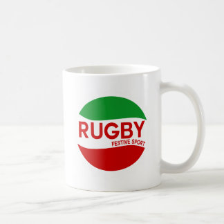 rugby festif basque mug blanc