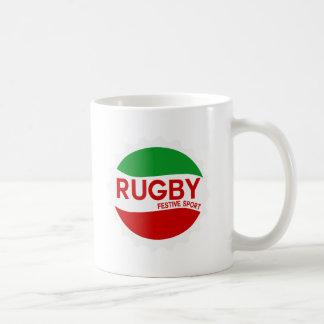 rugby festive sport mug blanc