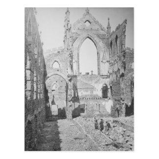 Ruines catholiques de cathédrale pendant la guerre cartes postales