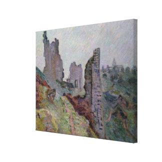 Ruines dans le brouillard chez Crozant, 1894 (huil Toiles
