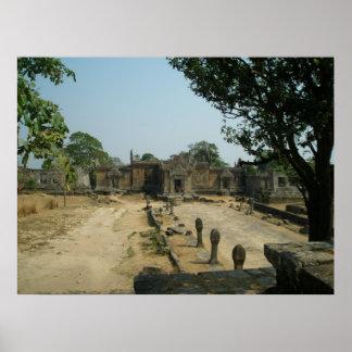 Ruines de temple de Preah Vihear Posters
