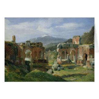 Ruines du théâtre chez Taormina Cartes