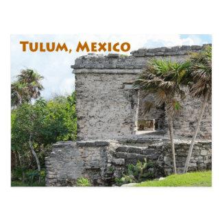Ruines maya Quintana Roo Mexique de Tulum Carte Postale