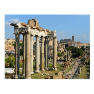 Ruines romaines à Rome Italie Carte Postale