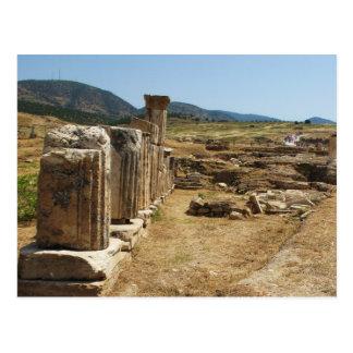 Ruines romaines chez Hierapolis Pamukkale Turquie Cartes Postales