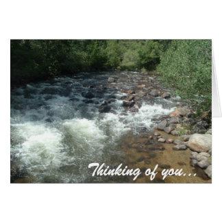 Ruisseau de bavardage carte de vœux