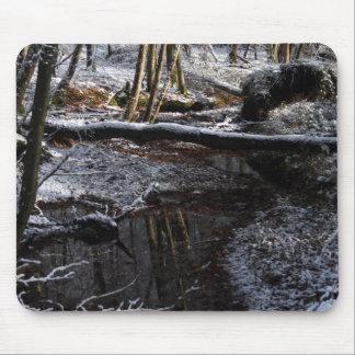 Ruisseau de forêt d hiver tapis de souris
